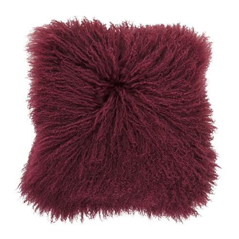 Coussin à la laine de mouton mongole