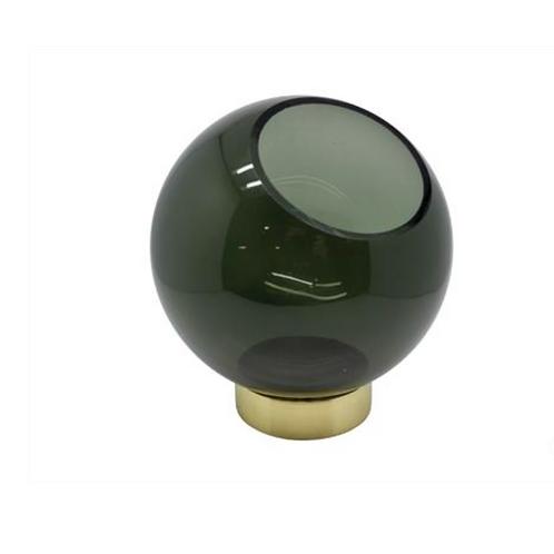 VASE BOWL GLASS ON GOLDEN STAND- V2 G401/GR