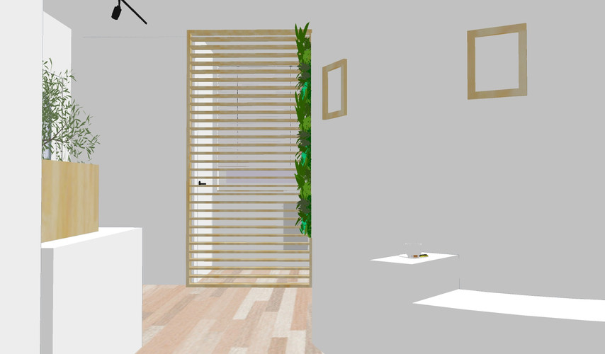 Hall et accès toilettes