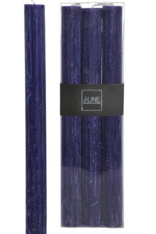 BT de 6 bougies bleu marin 13H 29208
