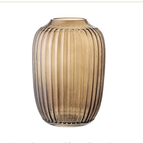 Vase brun en verre