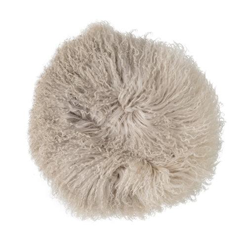 Coussin en laine de mouton mongole