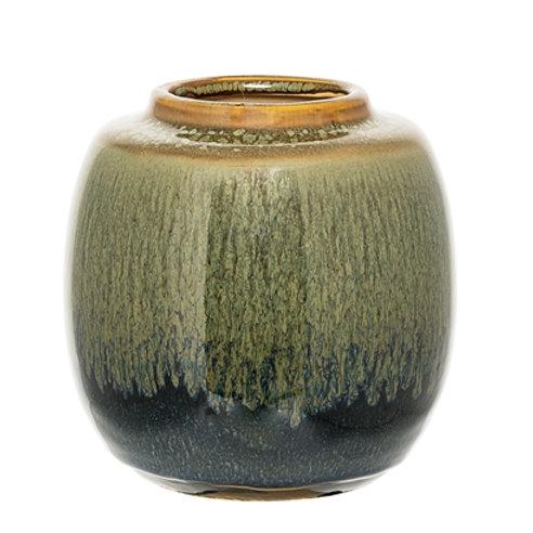 Deco Jar, Green, Stoneware 75245640