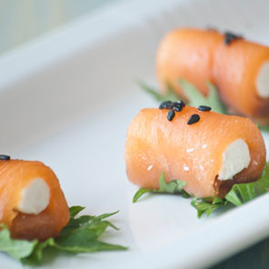 Salmon Rolls with Tequila Don Nacho