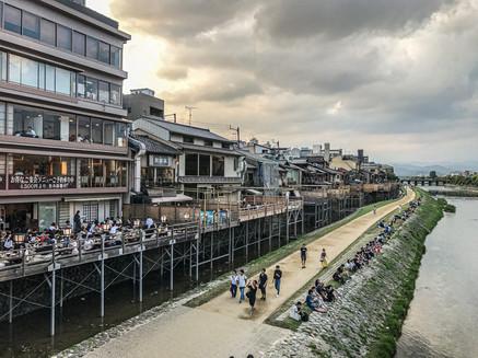 Kamo River, Kyoto, Japan, Summer