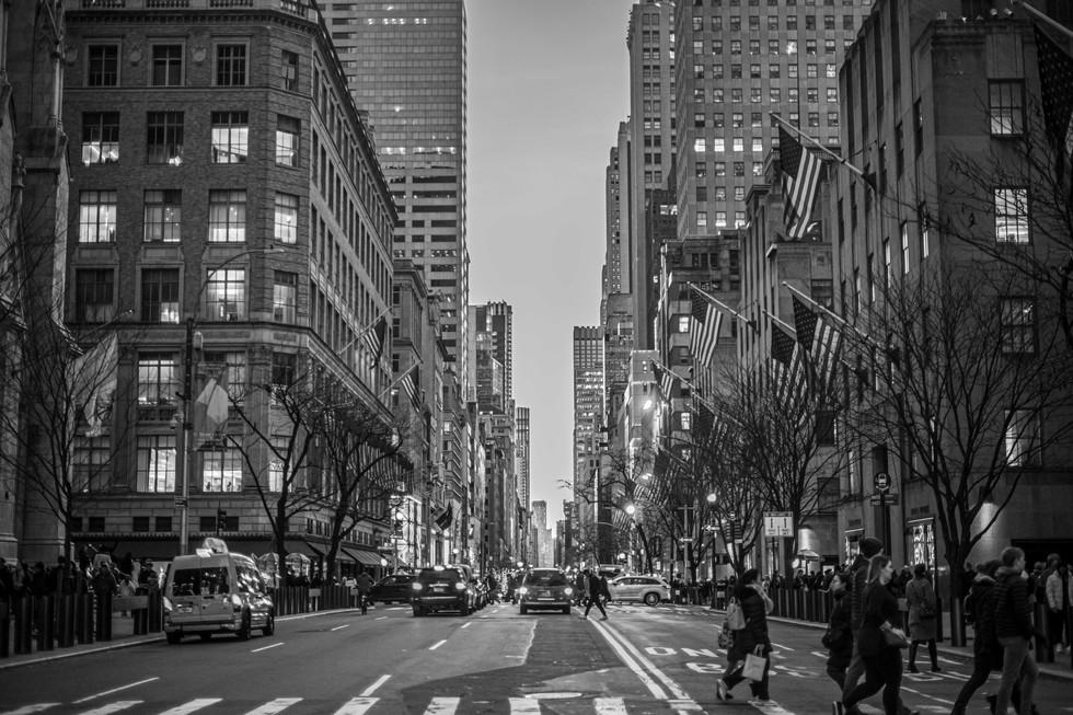 5th Avenue, New York, USA. Winter
