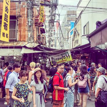 Tsukiji Fish Market, Tokyo, Japan. Summer