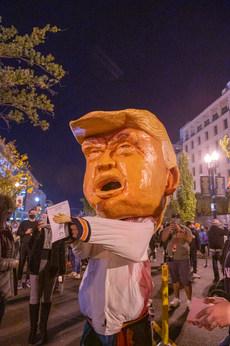 Nov. 3, 2020 Election Night Protest at Black Lives Matter Plaza.