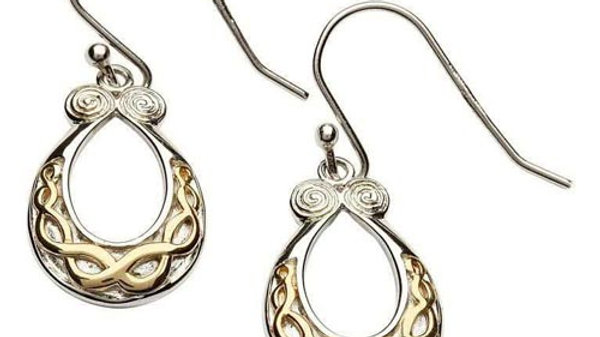 Gold Plated Celtic Earring