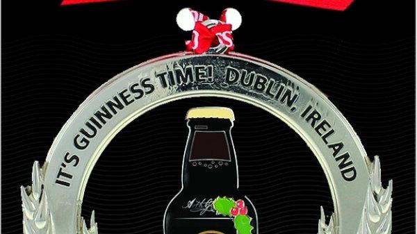 Guinness Christmas Metal Decoration - Bottle Barley