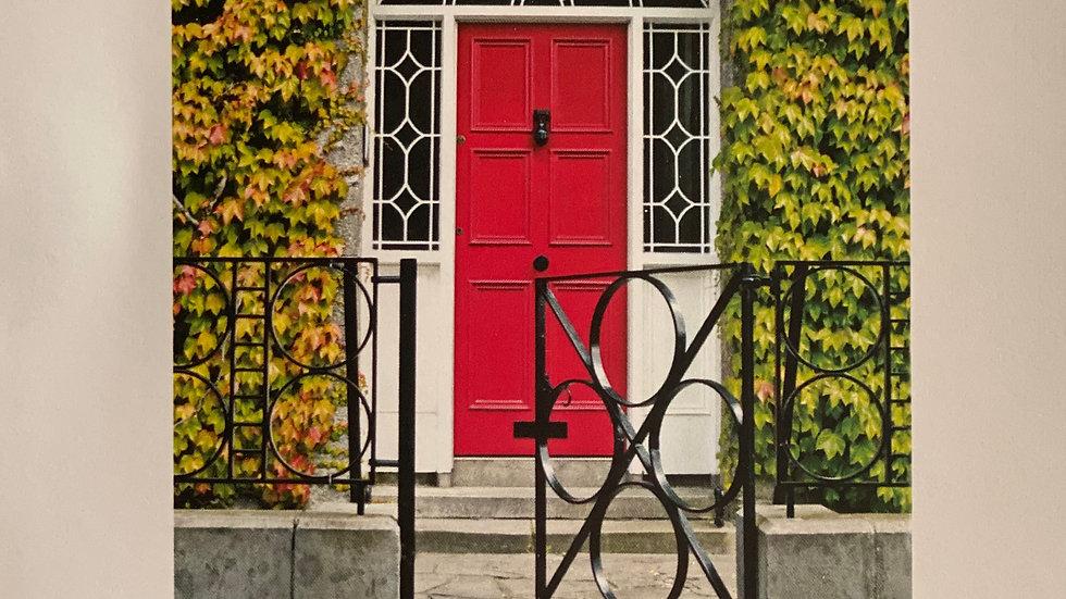 Red Door Good Luck Card