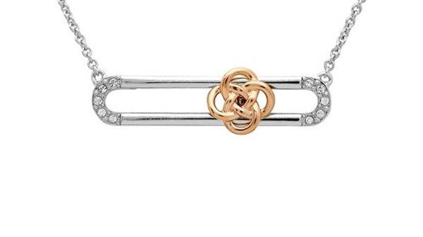 Swarovski Gold Rose Celtic Slider Necklace