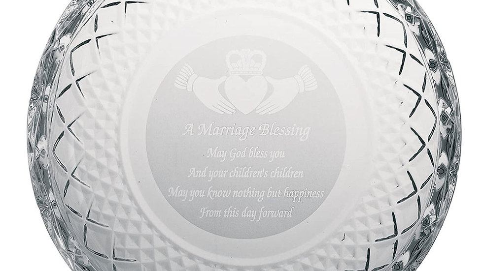 Galway Crystal Marriage Plate