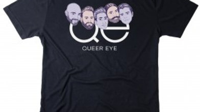 Pre-Order - Queer Eye Group Heads Black T-Shirt