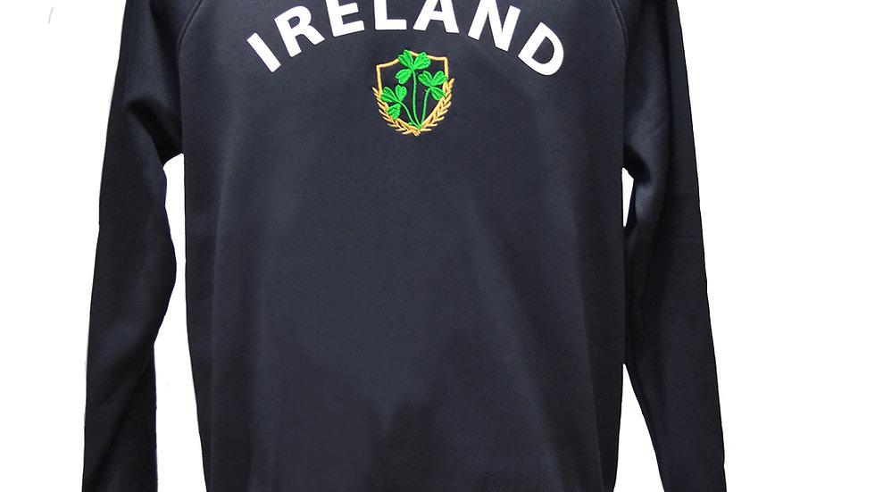Lansdowne Navy Ireland Shamrock Crest Sweatshirt