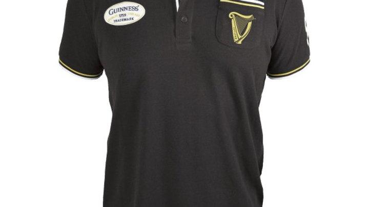 Guinness Black Pique Polo Shirt