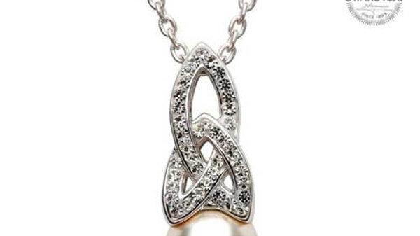 Swarovski Crystal/Pearl Trinity Pendant