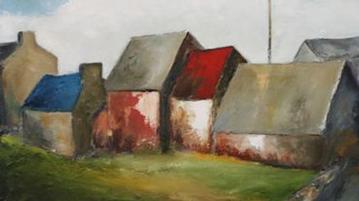 Village Rooftops by Padraig McCaul