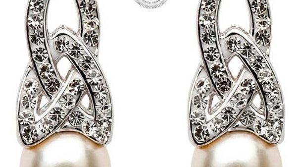 Swarovski Crystal/Pearl Trinity Earrings