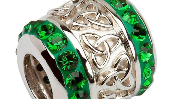 Celtic Trinity Knot Bead Encrusted With Swarovski Crystals