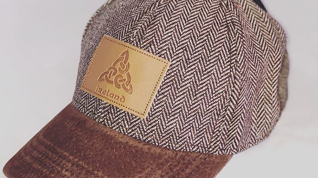 Ireland Tweed Suede Peak Baseball Cap