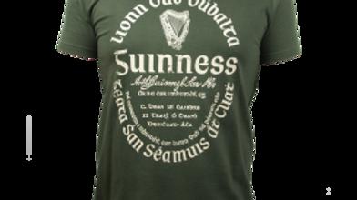 Guinness Kaki Green Gaelic Label Tee