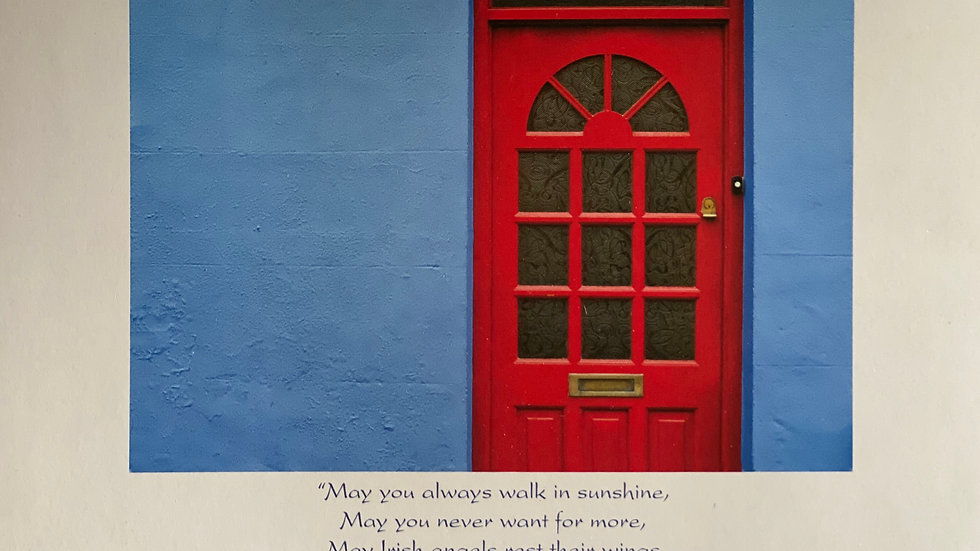 Red and Blue Door Birthday Card