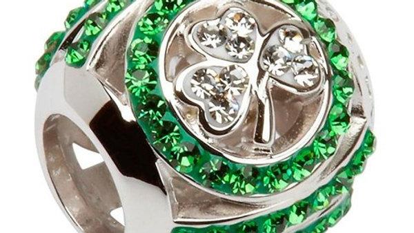 Shamrock Bead Encrusted With Swarovski Crystals