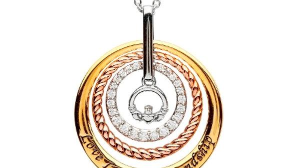 Swarovski Claddagh Pendant