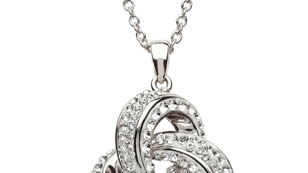 Trinity Necklace with Swarovski Crystals