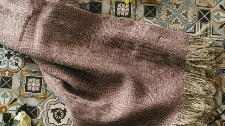 Mauve Linen Throw