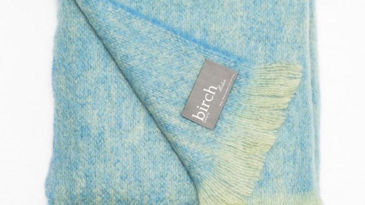 Blue & Green Mohair Throw- by Birch Designer Throws