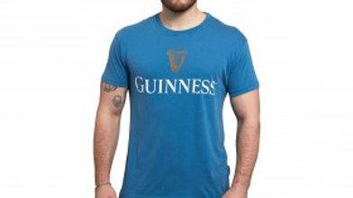 Guinness Trademark Label Blue T-Shirt