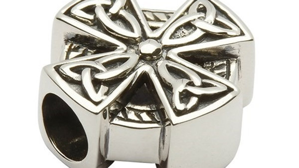 Celtic Silver Cross Bead