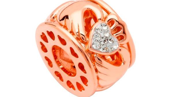 Swarovski Rose Gold Claddagh Bead
