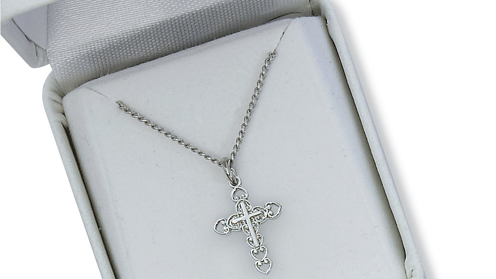 "Cross Pendant with 16"" Chain"