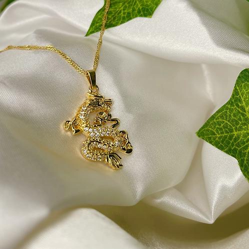 Diamond Dragon Necklace
