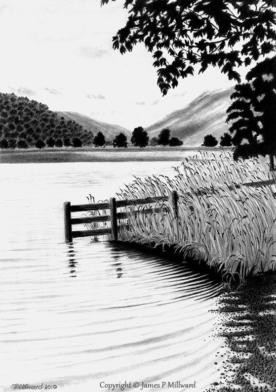 Brotherswater lake (Pencil)