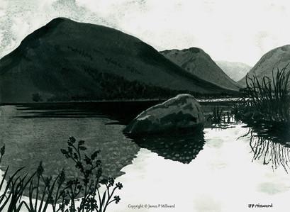 Brotherswater lake (Graphite)