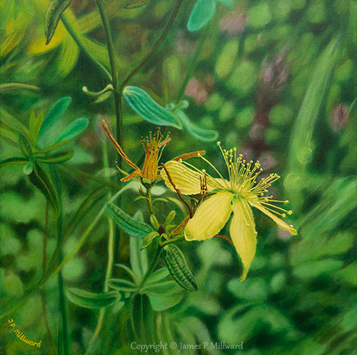 Gold on green (Acrylic)