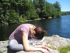 Effie in Yin Yoga pose