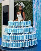 Rolling Water Table & Model Costume