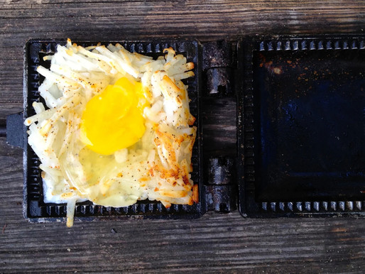 Cooking With Ed: Eggs in a Nest Mountain Pie