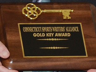 Mignualt, Salafia, Webster receive Gold Key awards from Connecticut Sports Writers' Allliance at
