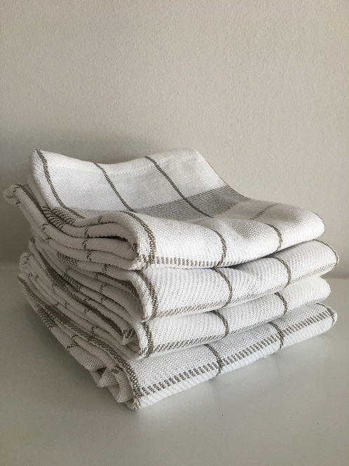 Neutral Plaid Kitchen Towels