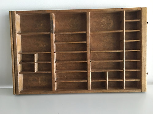 Antique Wood Divider Tray