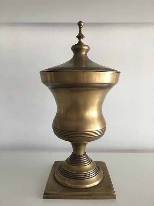 Large Brass Trophy Urn