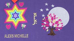 Rainbow Magen David and Tree of Life Moonlight