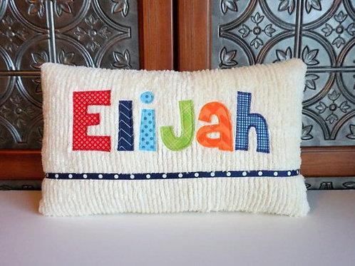 Chenille Applique Pillows
