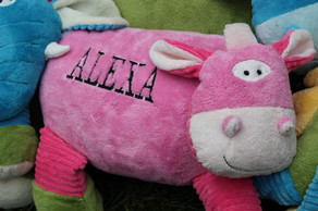 Xtra Large Keepsake Pillow- Girl Cow